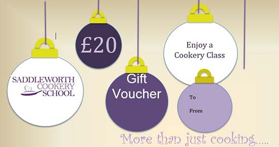 Saddleworth Cookery School Gift Vouchers